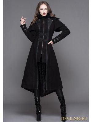 f6b10ec71848a2 Black Vintage Gothic Long Cape Design Coat for Women | Unique in ...