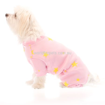 RSPCA World for Pets Dog Pyjamas, Star Pink Pet