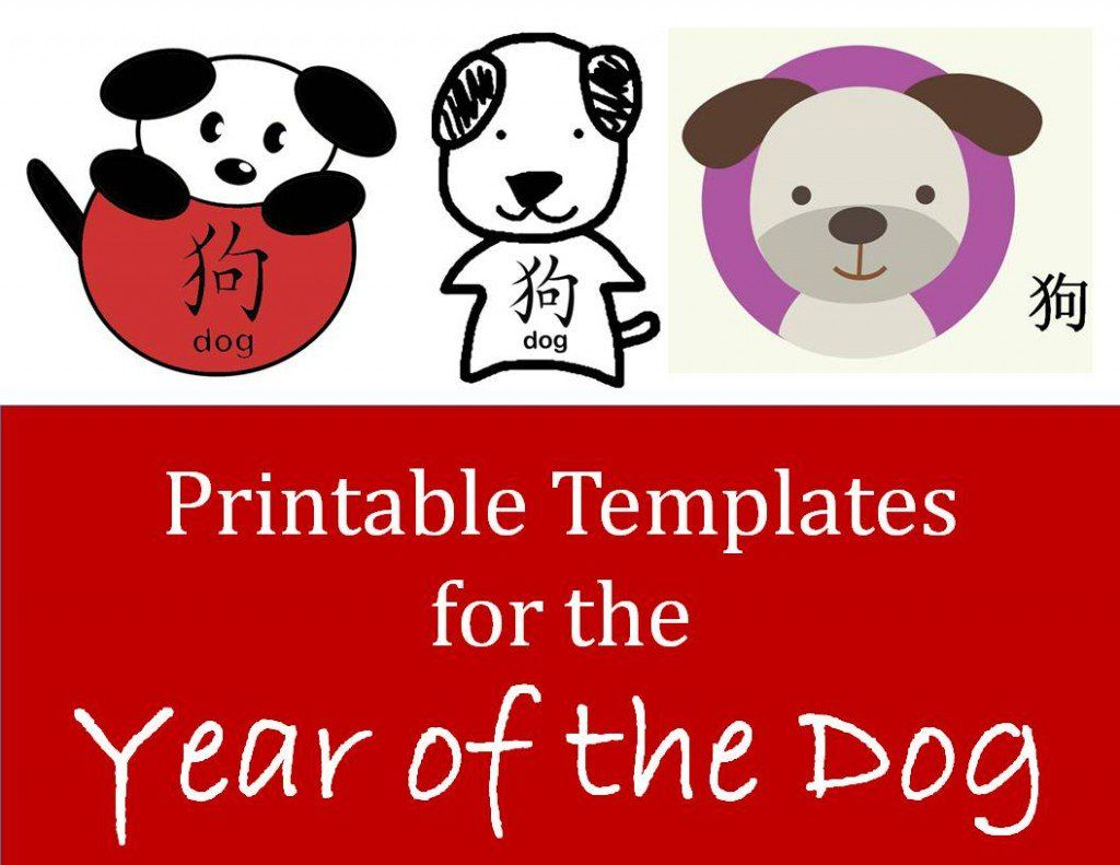 Contains Over 25 Easy Printable Templates For Dog Crafts For Chinese New Year Celebrations