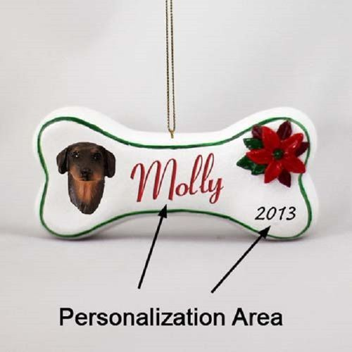 Doberman Pinscher Red Dog Breed Christmas Bone Ornament