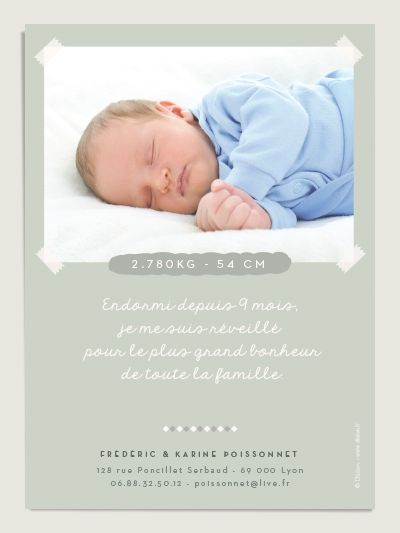 faire part de naissance gar on bienvenue bleu illustr par little cube carterie enfant. Black Bedroom Furniture Sets. Home Design Ideas