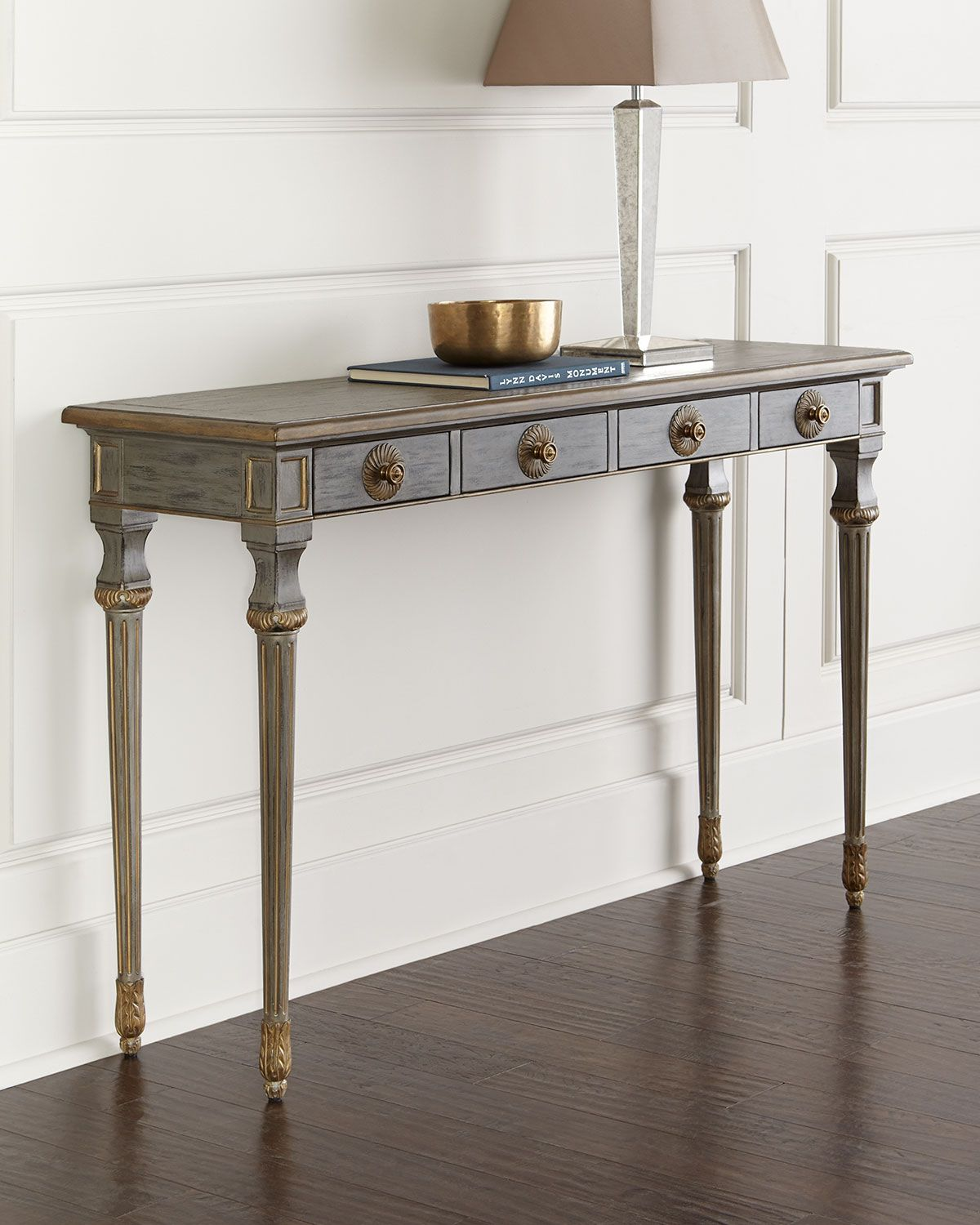 Knox Console Table, Gray