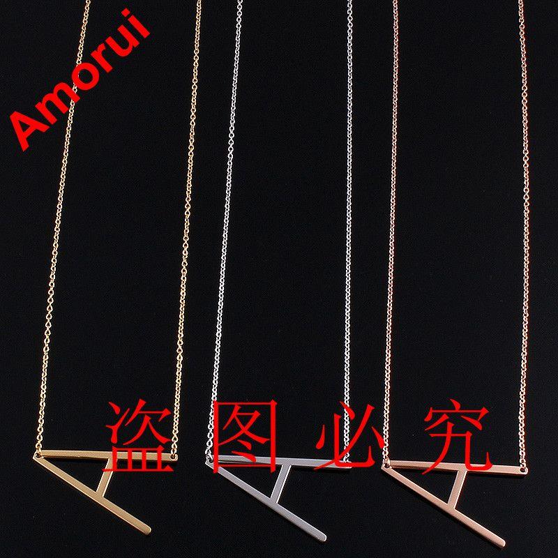 Amorui frauen 26 alfabet brief kragen choker körper kette halskette frauen rose/gold/silber farbe arabisch schmuck alphabet halsketten