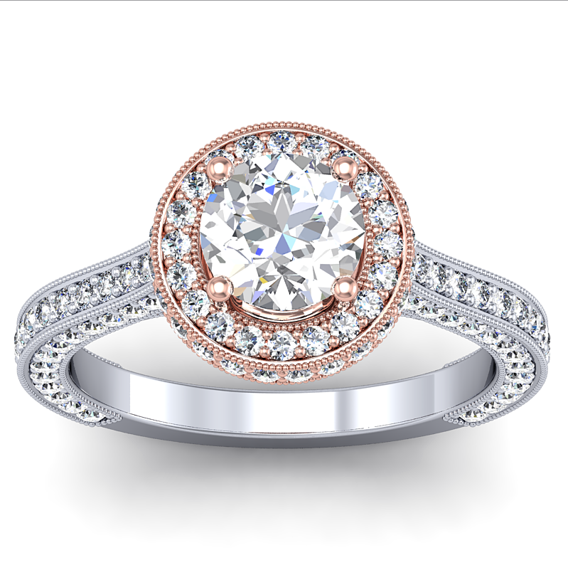 gold with rose gold engagement rings