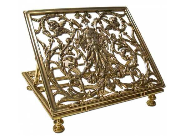 Atril para mesa fabricado en bronce / Broze table #Lectern (1/2). http://www.articulosreligiososbrabander.es/atril-para-mesa-fabricado-en-bronce.html