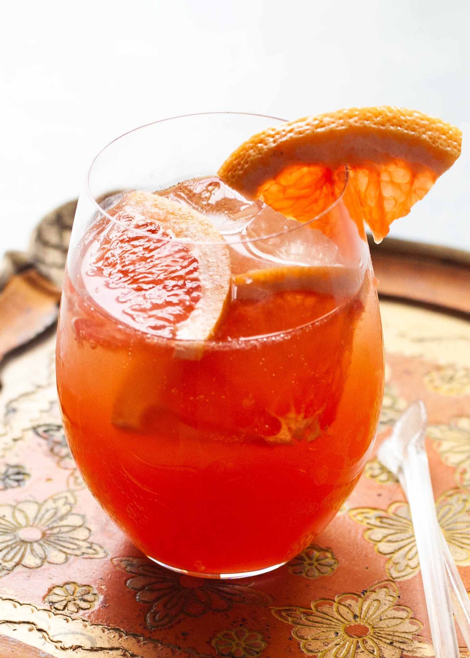 Side Porch Sangria With White Wine And Apricot Simplyrecipes Com Recipe Sangria Campari White Wine