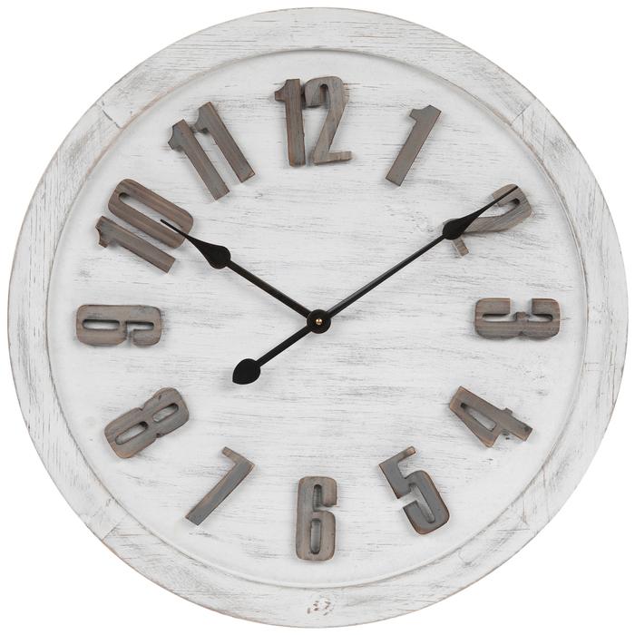 Round Whitewash Wood Wall Clock Hobby Lobby 1805324 In 2020 Wall Clock Grey Wall Clocks Wood Wall Clock