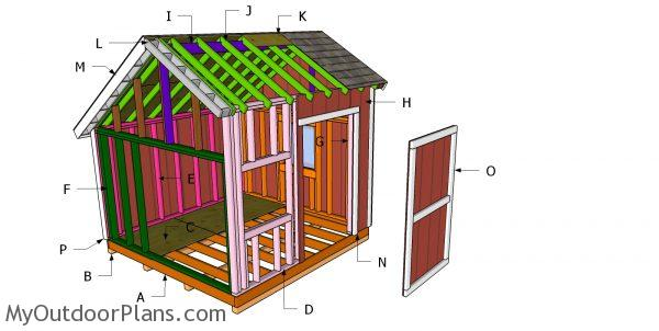 10 10 Saltbox Shed Roof Plans In 2020 Diy Shed Roof Plan Shed Roof