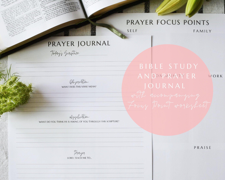 Prayer Journal Printable