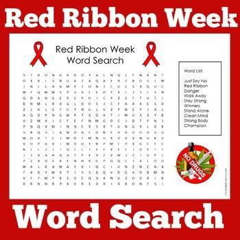 Red Ribbon Week Activity Red Ribbon Week Red Ribbon Red Ribbon Week Activities Red ribbon week worksheets kindergarten