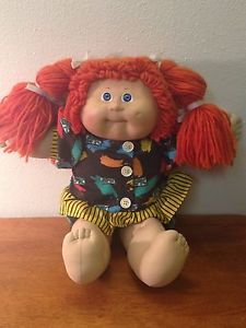 Authentic Vintage 1985 Signed Cabbage Patch Doll Red Head With Pig Tail Braids Cabbage Patch Dolls Cabbage Patch Kids Dolls Cabbage Patch Babies