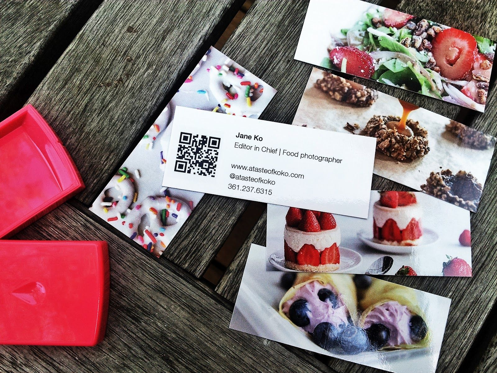 Yummy Food Blogger Business Card | Blogger Business Cards ...