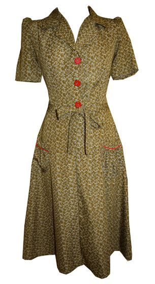 Tara Starlet 1940s 40s Style: Friday Frock Love - Reproduction Vintage