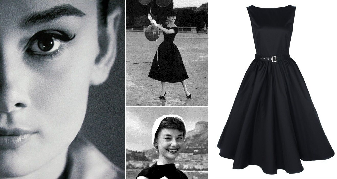 Платья в стиле одри хепберн фото кладем смешанную