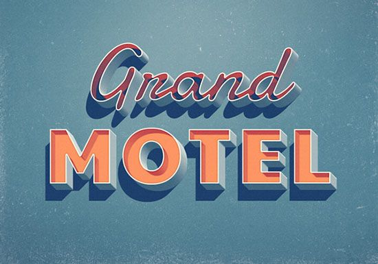 25 Awesome Free 3d Text Psd And Action Files Retro Text Photoshop Text Lettering