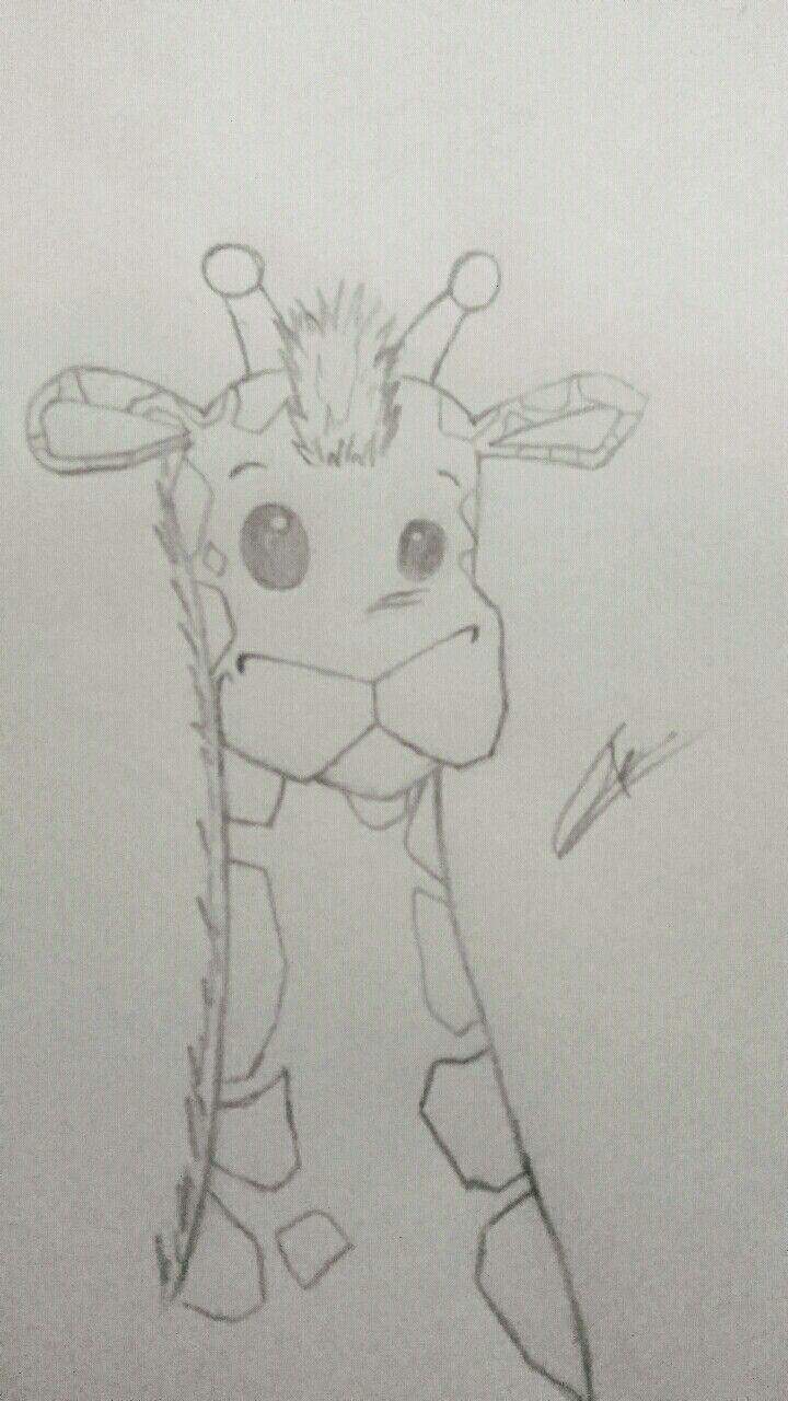 Jirafa A Lapiz Dibujos De Animales Dibujos Animales