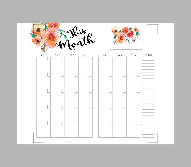 Printable Monthly Planner Inserts for Midori Traveleru0027s Notebook - printable monthly planner