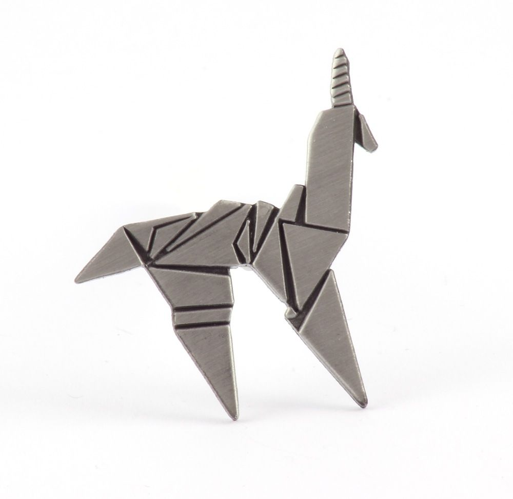 Blade Runner Origami Unicorn Pin: CURRENTLY SOLD OUT, BUT A NEW EDITION WILL RETURN ON JULY