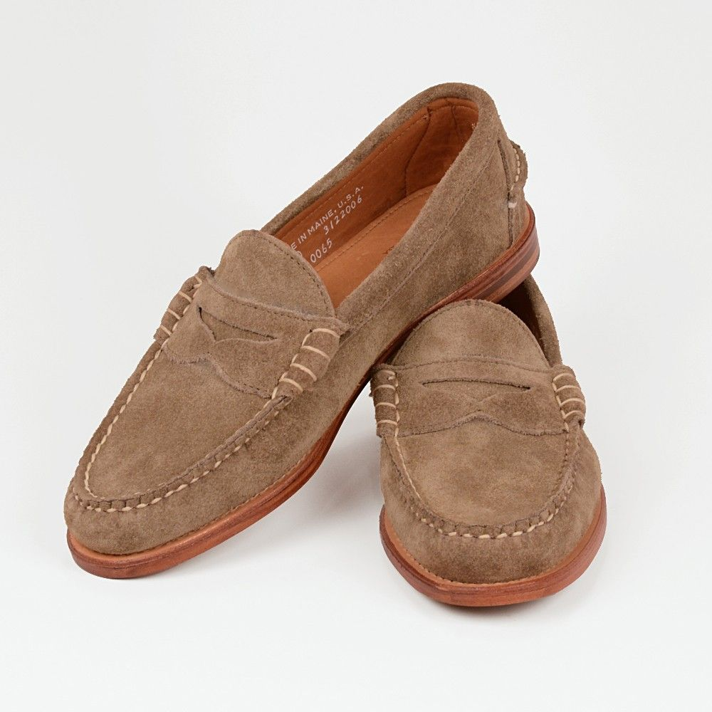e65bdcff5e Rancourt beefroll penny loafers in taupe suede (leather soles ...