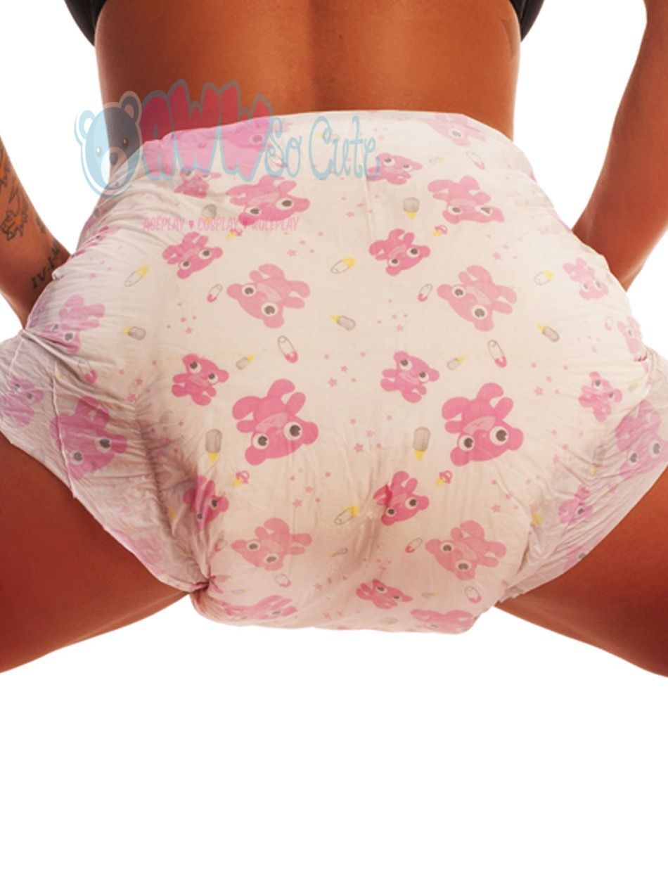 Printed adult baby diaper