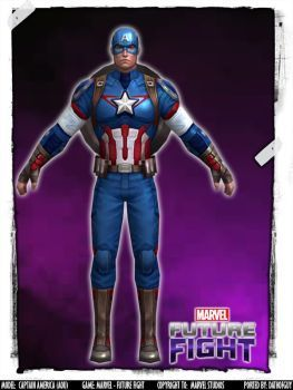 marvel future fight captain america aou by datkofguy comic and