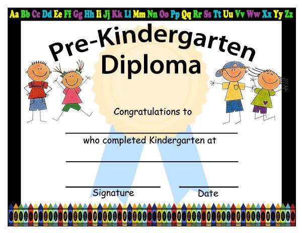 pre k graduation certificate  Pre-Kindergarten Graduation Diplomas, Blank Graduation Diploma ...