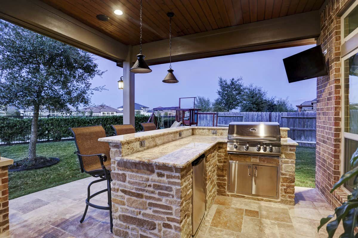Outdoor Living In Cinco Ranch Ii Katy Texas Custom Patios Outdoor Kitchen Grill Outdoor Barbeque Outdoor Living