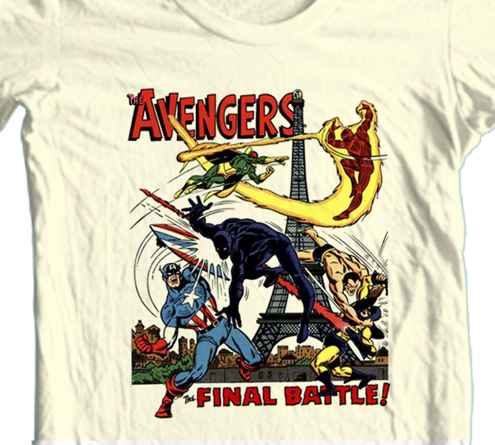Marvel Comics S-XL Logo Schwarz The Avengers Herren T-Shirt Thor Hulk