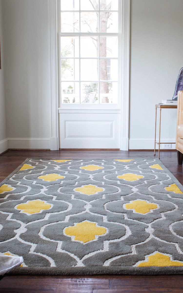 Gorgeous Floor Rug Yellow Gray Wayfair Matches A