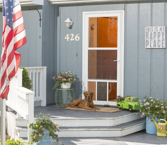 Superior Built For Manu0027s Best Friend. LARSON Petview Storm Doors Let Your Get A Full  View Of Your Yard And Include A Built In That Makes Potty Breaks Easy.