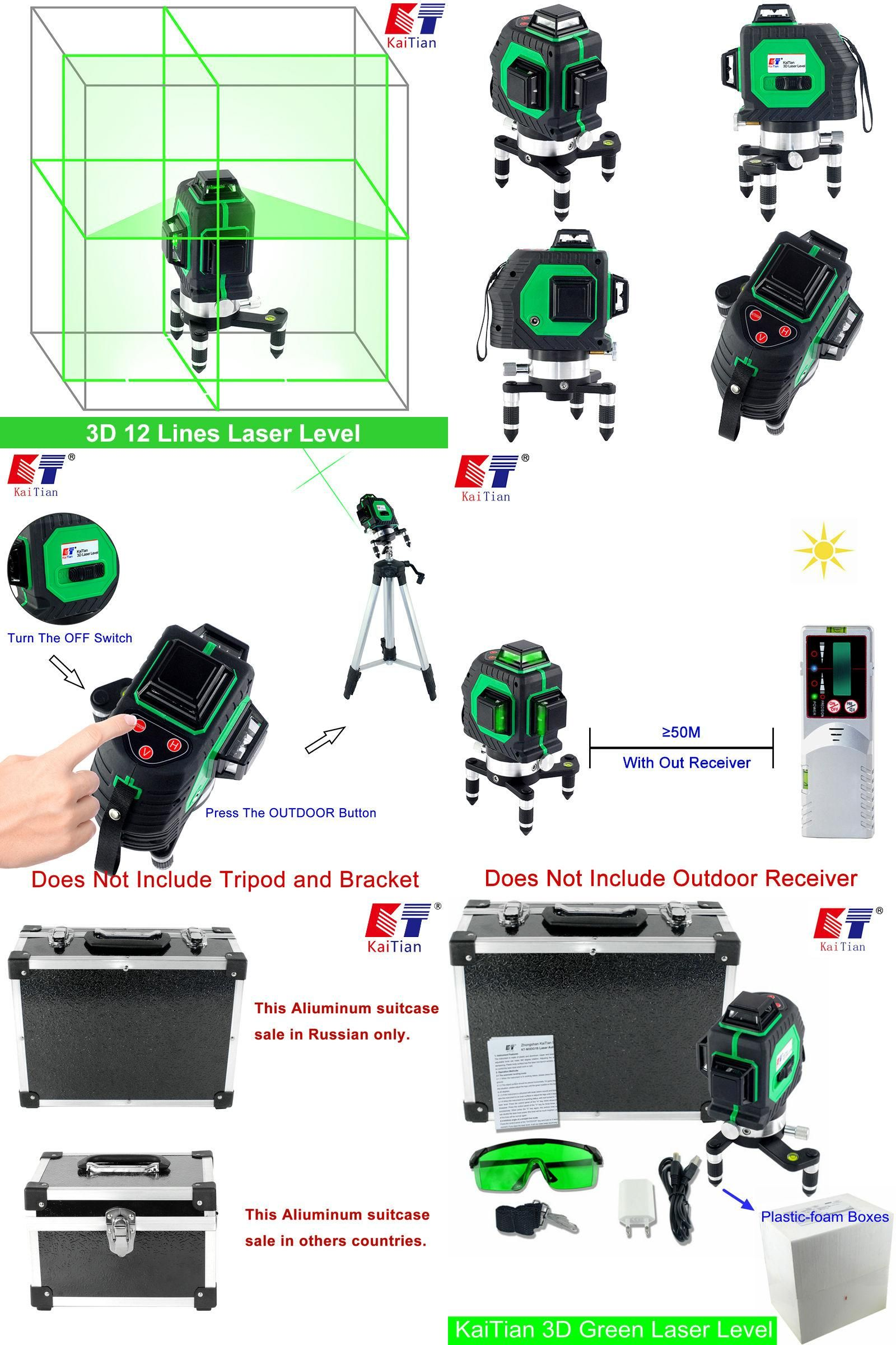 Visit To Buy Kaitian 3d Green Laser Level 532nm 12 Lines Cross Level Leveling With 360 Rotary Self Slash Function And Outdoo With Images Green Laser Laser Levels Outdoor