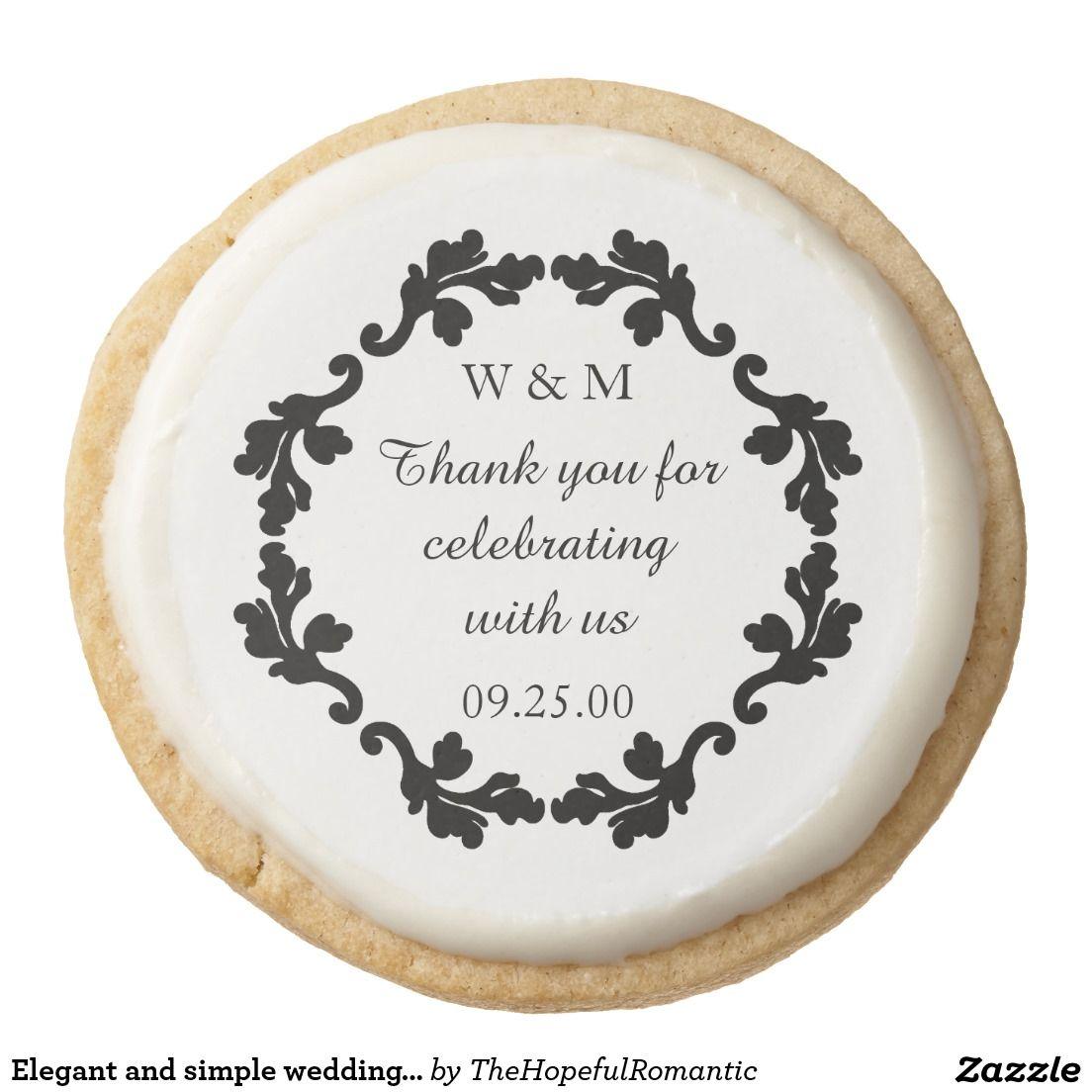 Wedding thank you round shortbread cookie   Shortbread cookies ...