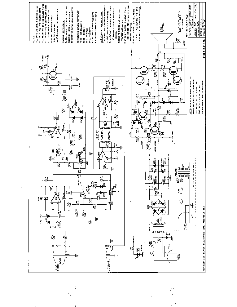 PEAVEY CLASSIC-30 SCH Service Manual download, schematics