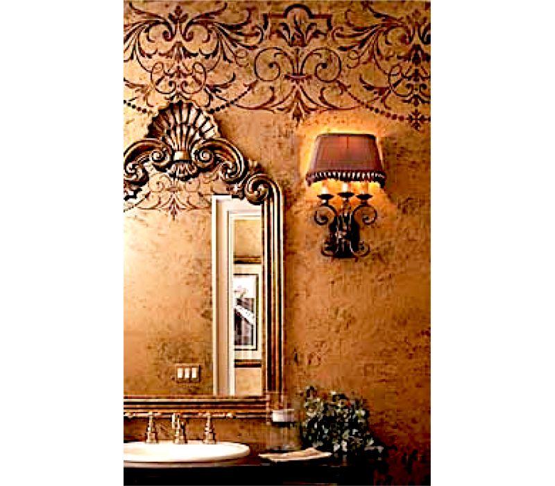 48++ Living room wallpaper border info