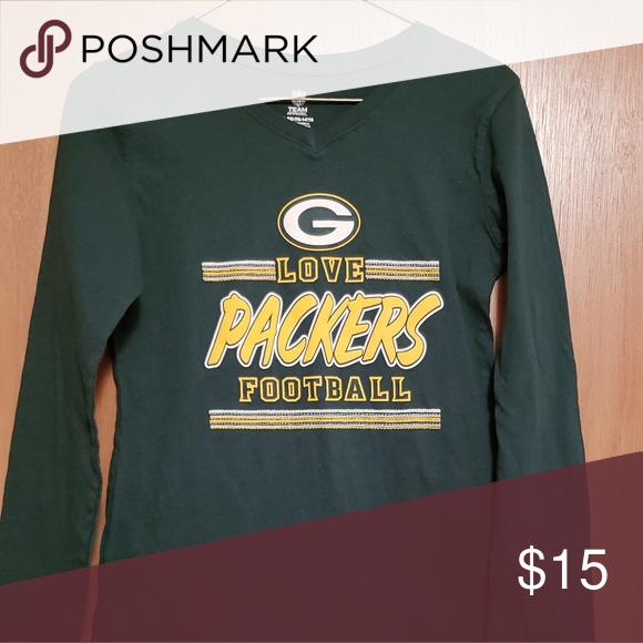 Green Bay Packers Girls Long Sleeved T-Shirt Sz XL Green Bay Packers Girls  Long Sleeved T-Shirt Sz XL (14 16) Excellent 1983c016a