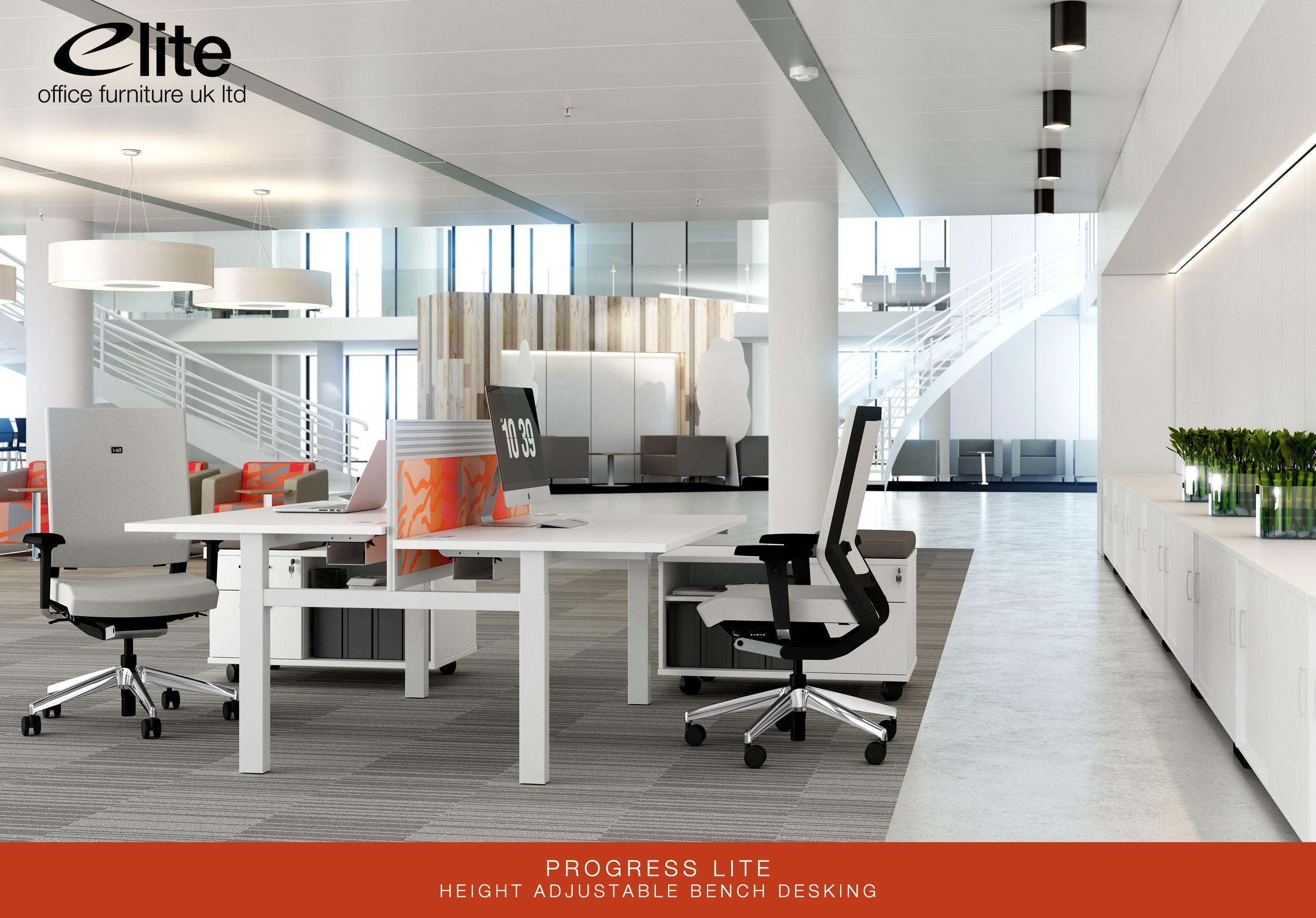 Progress Lite Height Adjustable SitSit Bench Desking