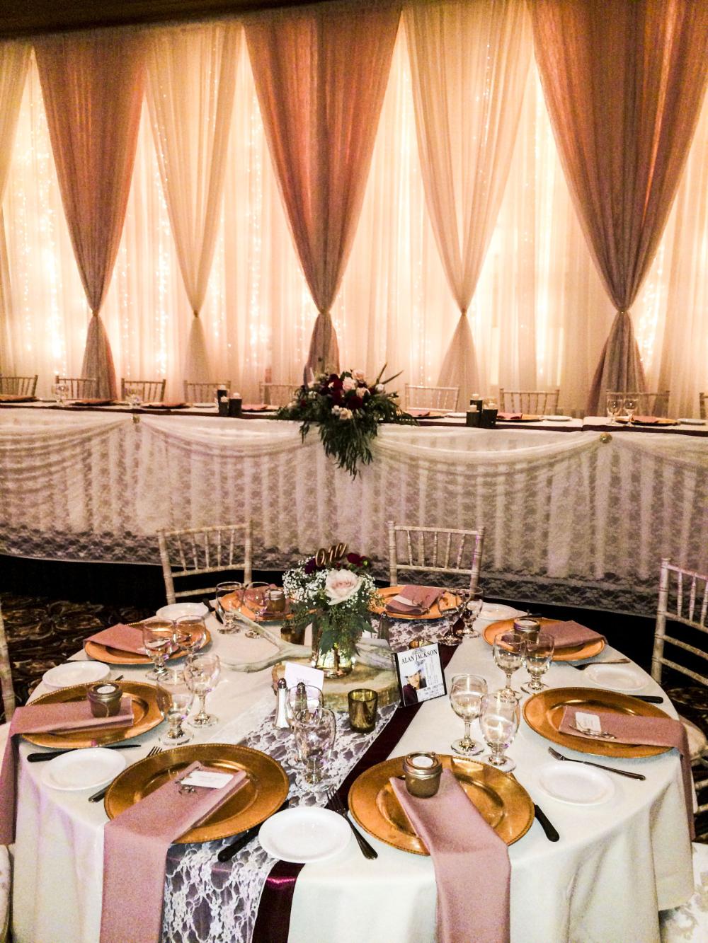 dusty rose theme wedding reception - Google Search #dustyrosewedding