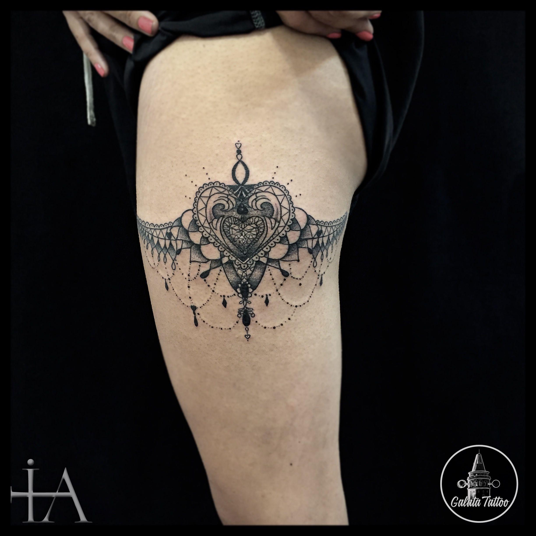 garter tattoo my works