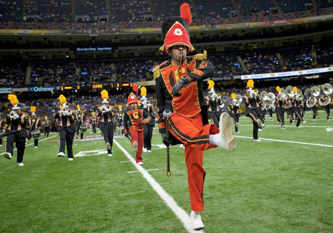 Grambling State University Marching Band Takes The Field At The Bayou Classic Bayou Classic Historically Black Colleges New Orleans