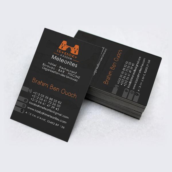 Kainet Communication Creation Carte De Visite Pour Kasbah Meteorites Ouarzazat Web Mobile Site