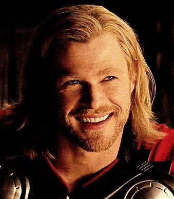 Chris as Thor... those eyes... that smile...