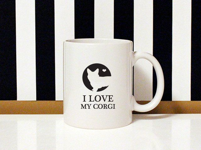 NEW special collection - I love my dog - I love my Corgi - 11oz Coffee Mug - Dog Lover - Corgi dog by blushface on Etsy