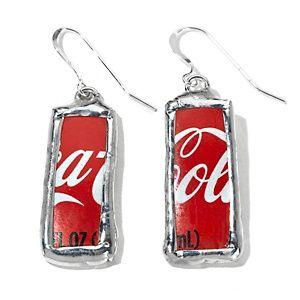 9b77d7100e3c6f Smart Glass Recycled Coca-Cola Glass Bottle Rectangular Earrings at HSN.com.