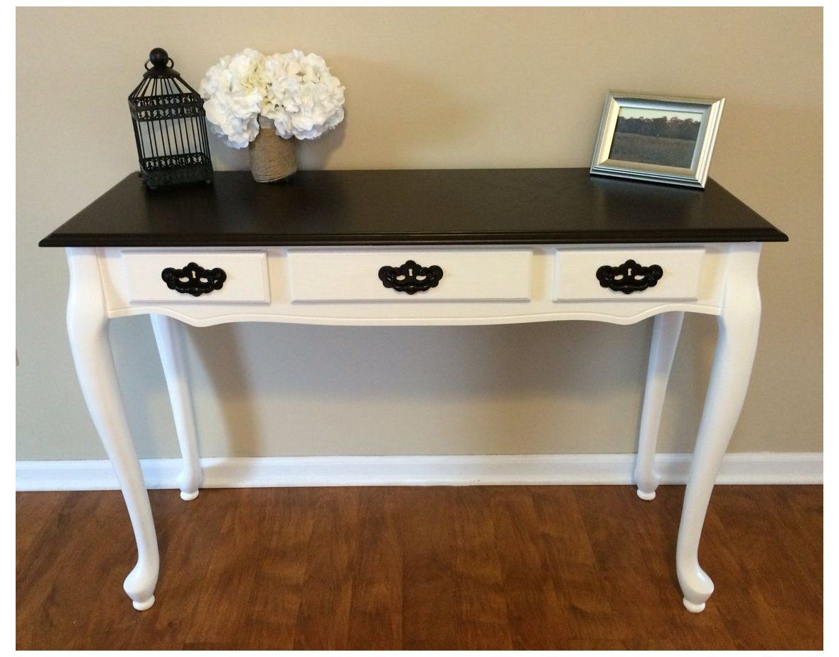 Entryway Table Refurbished Entrywaytablerefurbished Queen Anne Sofa Entryway Table Refinishe In 2021 Queen Anne Furniture Furniture Renovation Furniture Makeover Queen anne console table