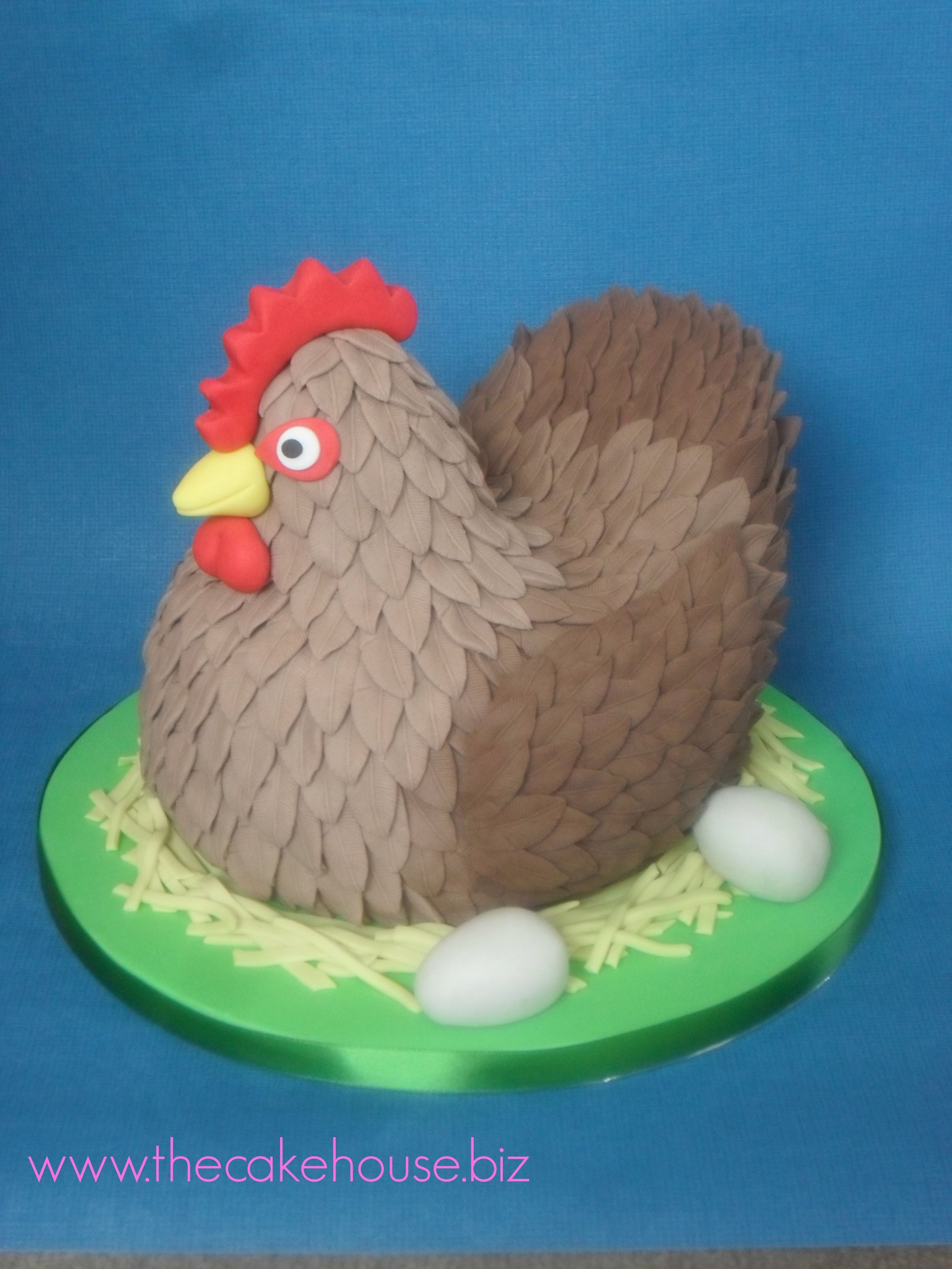 Spring Chicken Birthday Cake Cupcakes And Cakes Pinterest
