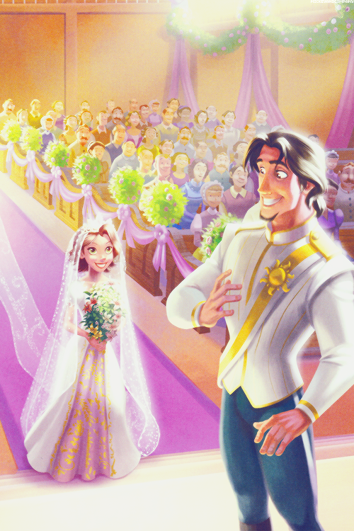 There is an actual animated short about Rapunzel and Eugene's wedding