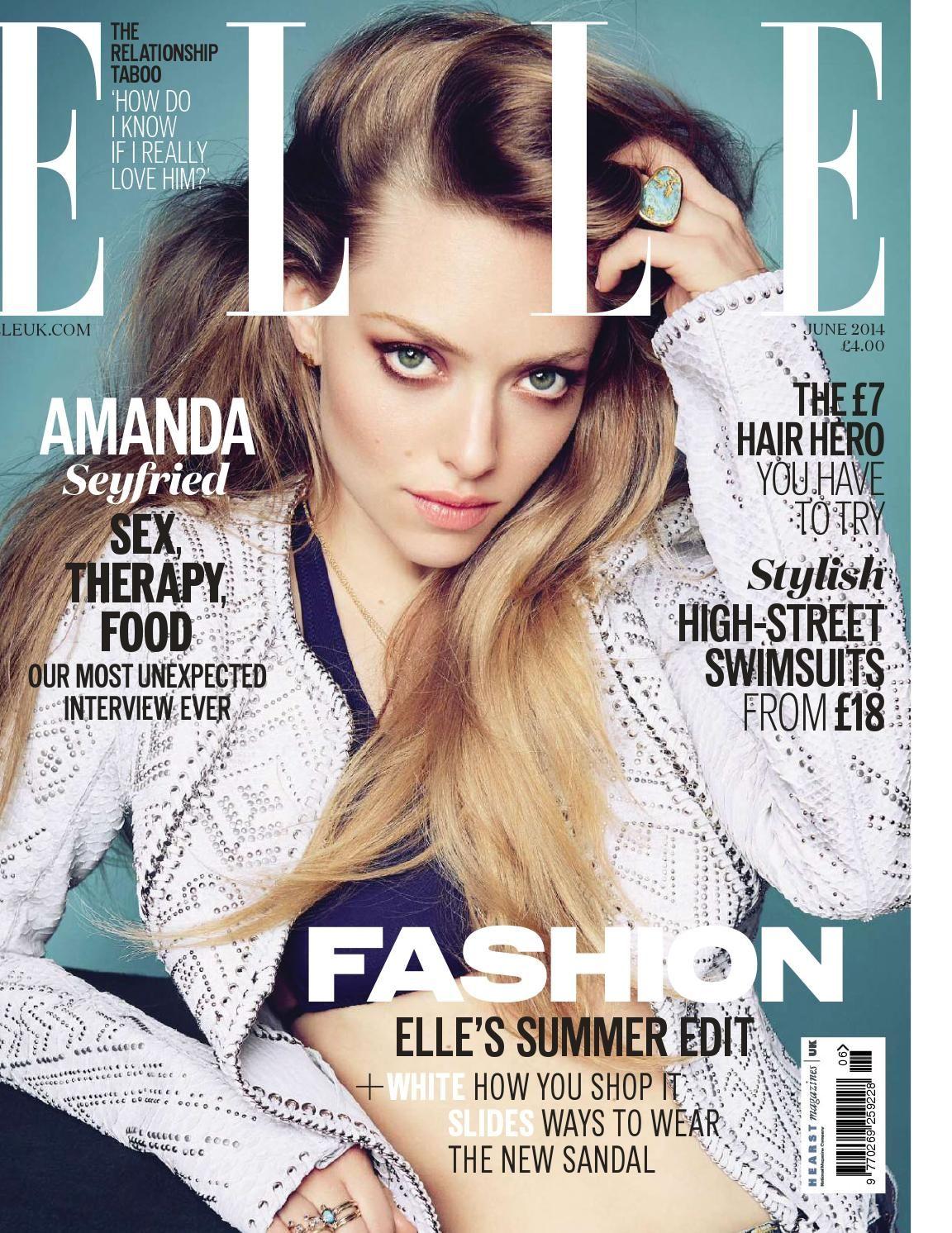 ELLE Magazine 4365ц34е Amanda seyfried