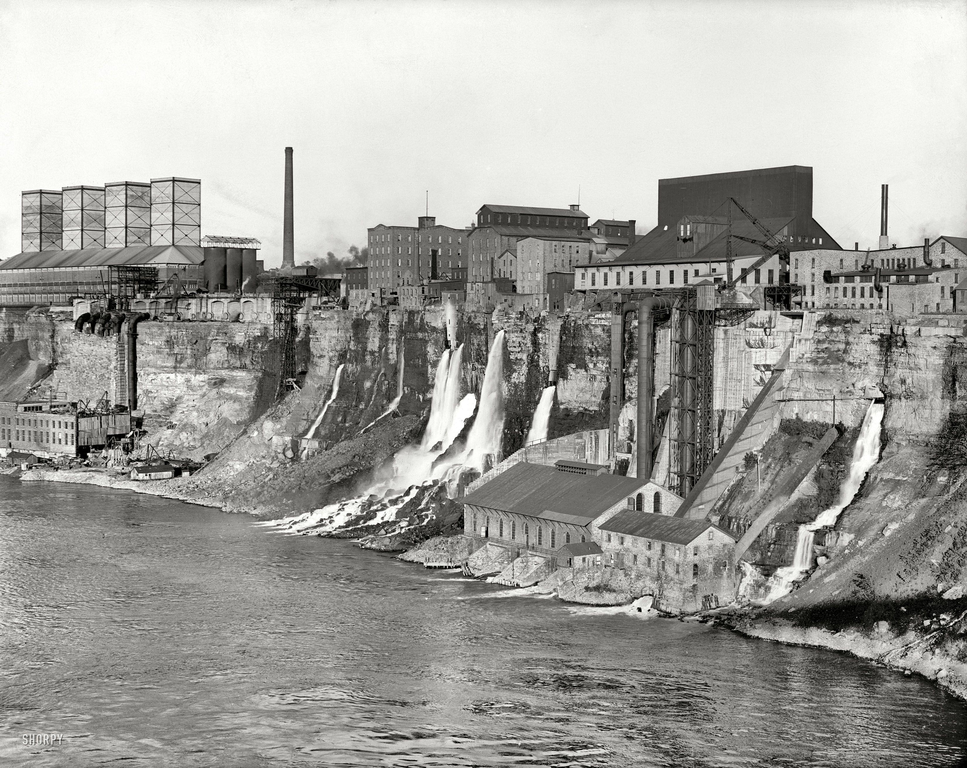 Niagara Falls New York Circa 1906 Mills Along The Gorge