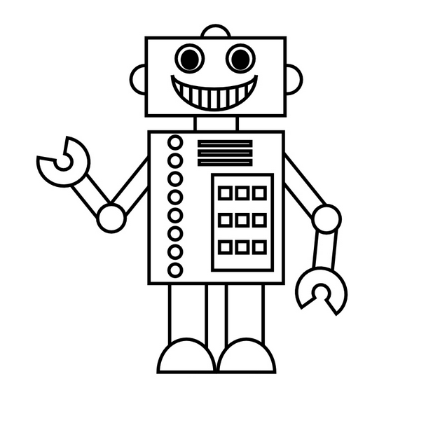Kleurplaten Robot Boy.Robot Kleurplaat Drawings And Art Coloring Pages For Kids Easy