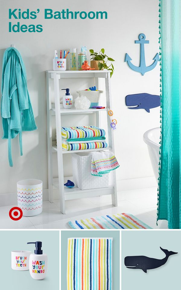Photo of Create a fun & vibrant bathroom for your kids with organization ideas, shelves &…